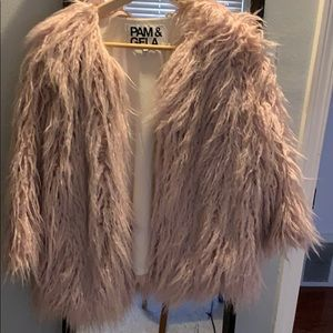 Pam and Gela faux fur jacket